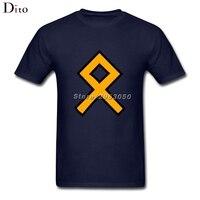 Viking Othala Rune T Shirt Men Man S Online Designer Custom Short Sleeve Boyfriend S XXXL