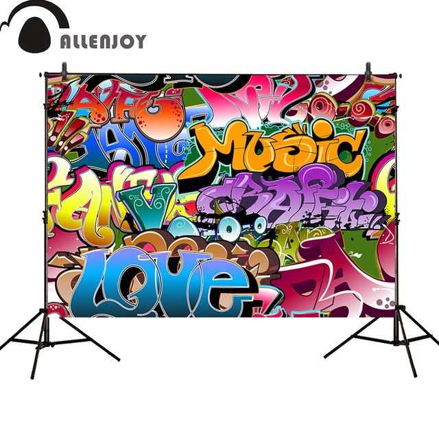 Allenjoy Photography Backdrops Graffiti Wall Birthday Party Banner Photo Studio Booth Background Newborn Baby Shower Photocall