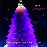 Full Color Led Luminous Stilts Walker Dress Programmable LED Colorful Light Up Ballroom Disco Stage Grand Event Clothes Wears