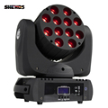 2019 HOT Fast & Gratis Verzending DMX Podium Licht LED Moving Head LED Beam 12X12 W RGB Professionele stage & DJ Fabriek Prijs