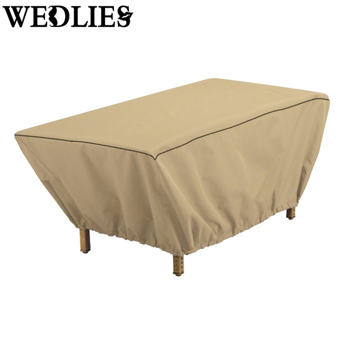 48 Inch Rectangular Patio Coffee Table Cover Garden Outdoor Furniture Protective Cover Table