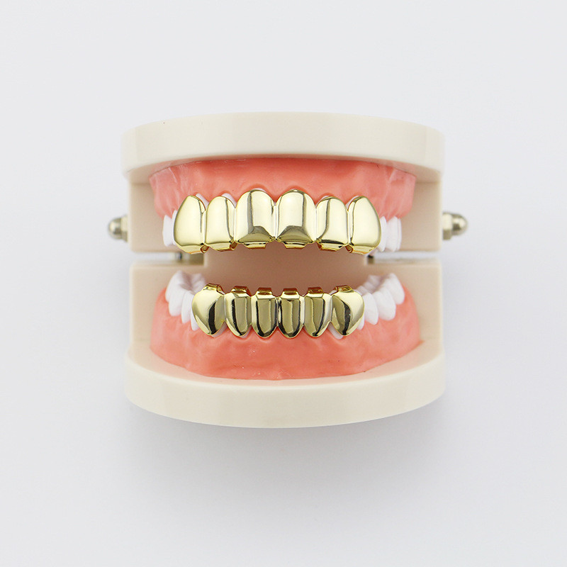 Hip Hop Gold Tand Grillz Top & Bottom Grills Dental Mouth Punk - Mode smykker - Foto 6