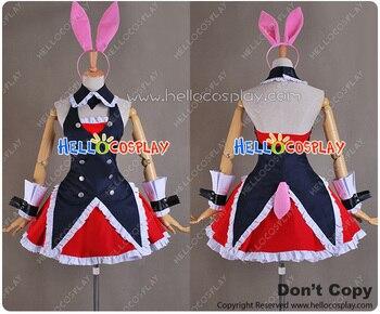Mondaiji Cosplay Black Rabbit Costume Dress H008