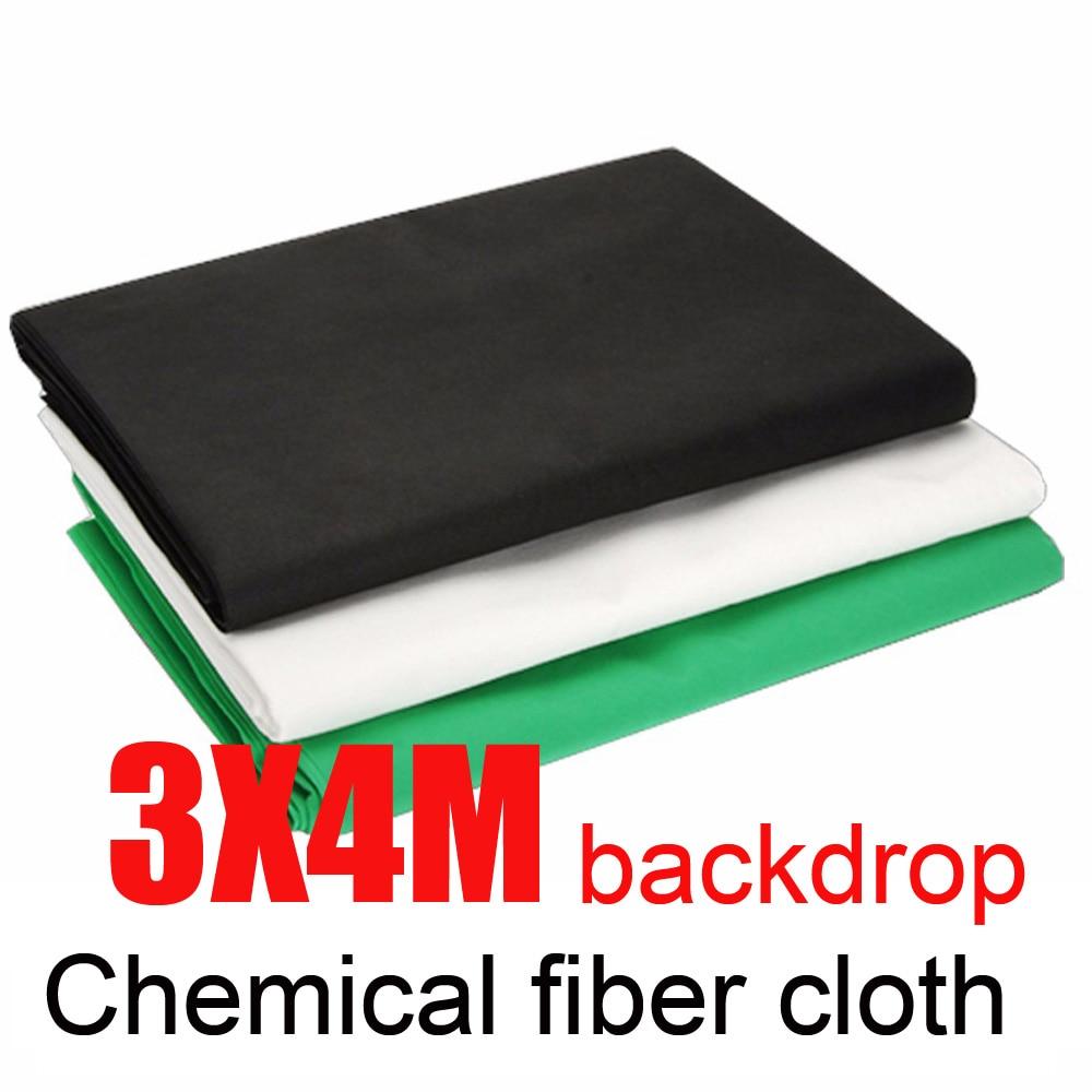 Fond de Studio Photo 3*4 M fond de tissu de Fiber chimique vert blanc noir Valentine fond de photographie Chromakey coton