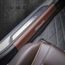 Plaques de seuil de protection en cuir, autocollants de pédale de bienvenue pour bmw série 5 G30 G38