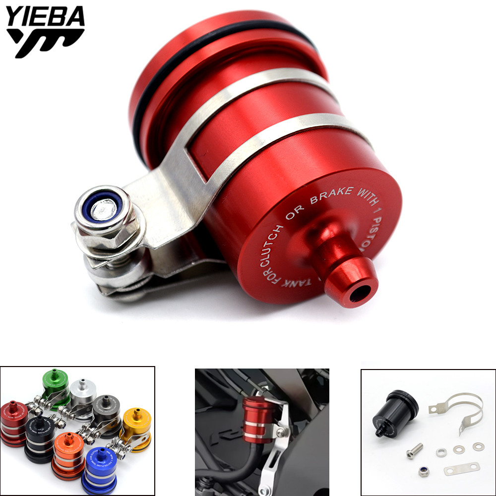 CNC Motorcycle Brake Fluid Reservoir Clutch Tank Oil Fluid Cup for Honda VFR 750 800 VTR1000F CBF1000 VF750S SABRE CBR900 1000RR universal motorcycle brake fluid reservoir clutch tank oil fluid cup for mt 09 grips yamaha fz1 kawasaki z1000 honda steed bone