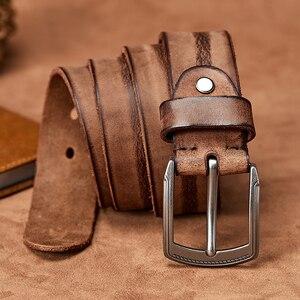 Image 4 - MEDYLA erkekler kemer alaşım Pin toka gelişmiş deri kemer kot rahat orijinal dana kemer gençlik kemer el yapımı MD567
