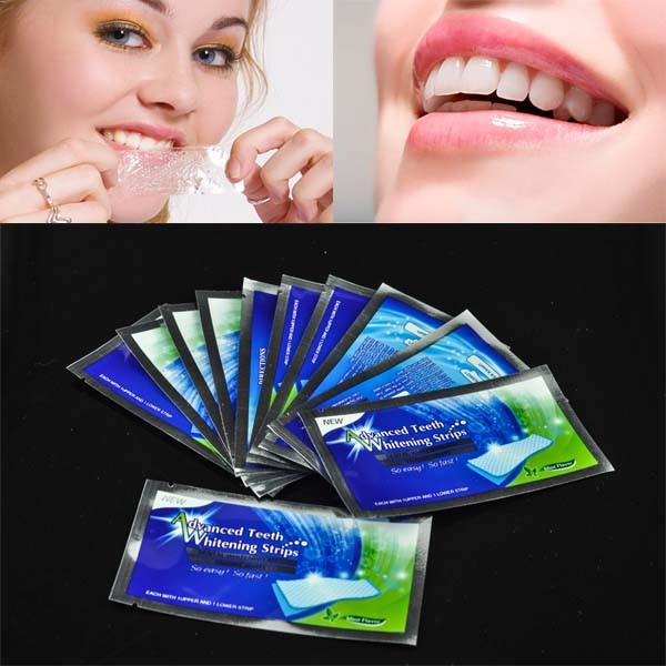 TEETH WHITENING STRIPS, Mint Flavor Teeth Whitening Strips, Whiten Your Teeth Quickly, 14pcsbox