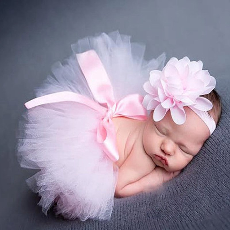 Fashion Newborn Photography Props Baby Girl Flower Headband Lace Tutu Skirt Set Baby Photo Accessories Fotografia Infant Clothes  stickbutik декоративная подушка дерзкие полосы 25х45