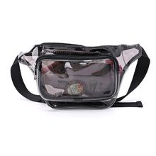 PVC Transparent Phone Pouch Purse Women Waist Bag Fanny Hip Pack Chest Travel Clear Wallet