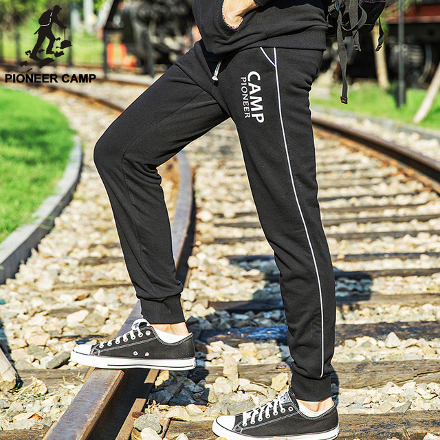 Pioneer Camp,Free shipping!2017 fashion new arrival mens casual pants joggers wear cotton breathable sweatpants