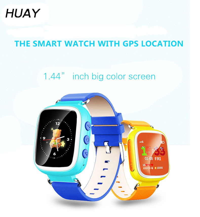 Kids GPS Tracker Watch Safe GPS Smart Wristwatch GSM 1.44` SOS Call Finder Locator Tracking Children's Watch Q80
