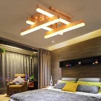 Nordic solid wood led ceiling lamp modern simple log living room lamp bedroom light dining room personal ceiling light MZ86