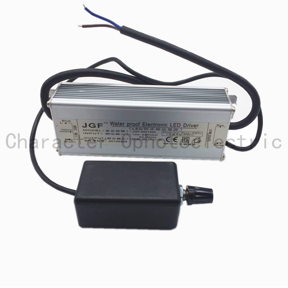 2 PCS 50W HighWaterproof Dimmer Diver Power LED Driver Dimmable IP67 driving power supply led driver