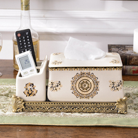 Box Living Room Tea Table Remote Controller Storage Box Household Paper Box European Paper Napkin