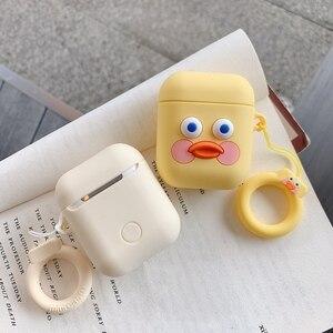 Image 5 - Cute Cartoon etui na słuchawki dla Airpods 2 okładka miękkiego silikonu szczupła osłona na słuchawki dla Airpods 1 przypadku torba ochronna pasek przypadki