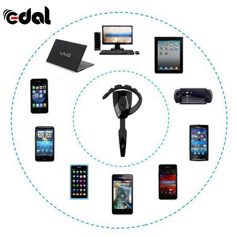 Portable In-ear Wireless Earphone Stereo Bluetooth Gaming Headset Headphones Handsfree with Mic For PS3 Smartphone PC