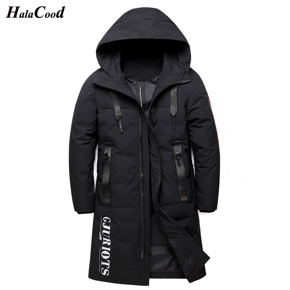 2018 Fashion Lovers Winter New White Duck   Down   Jackets Men Warm   Coats   Casual Parka Mens Hooded Long Thick   Coat   Male Plus Size