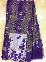Design No. SDPN156 ,good price flower style embroidered African net lace for women dress