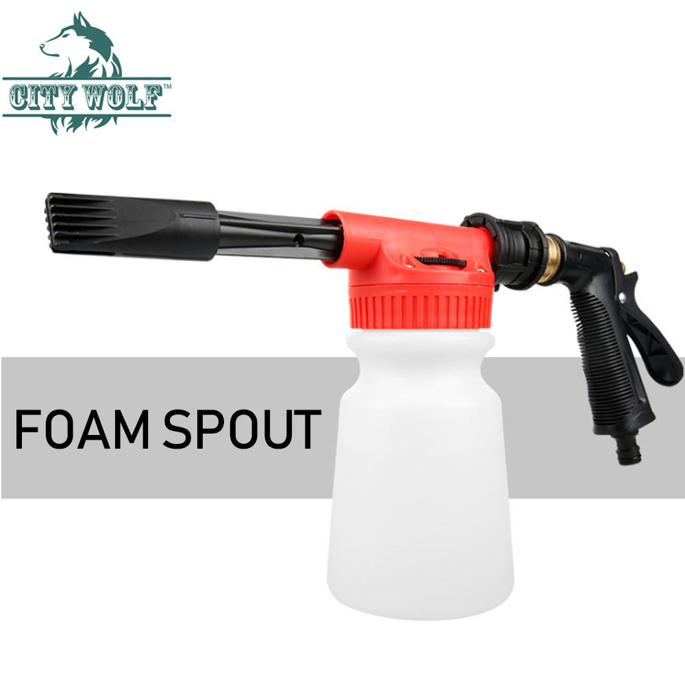 Car Washer High Pressure Snow Foamer Water Gun Car Cleaning Foam Gun Washing Foamaster Gun Water Soap Shampoo Sprayer City Wolf