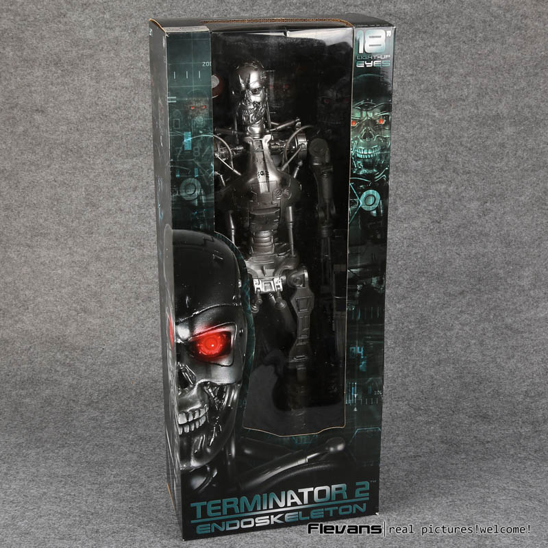 NECA Terminator 2 Judgment Day Endoskeleton Super Big PVC Action Figure Collectible Model Toy 18 no light free shipping neca the terminator 2 action figure t 800 cyberdyne showdown pvc figure toy 718cm zjz001
