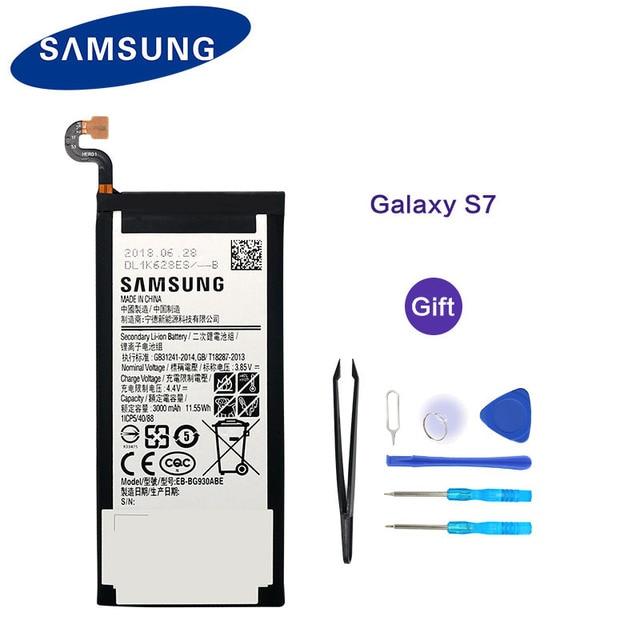 100% Orijinal Yeni Samsung Pil EB-BG930ABE 3000 mAh Samsung Galaxy S7 G930 G930F G930FD G930W8