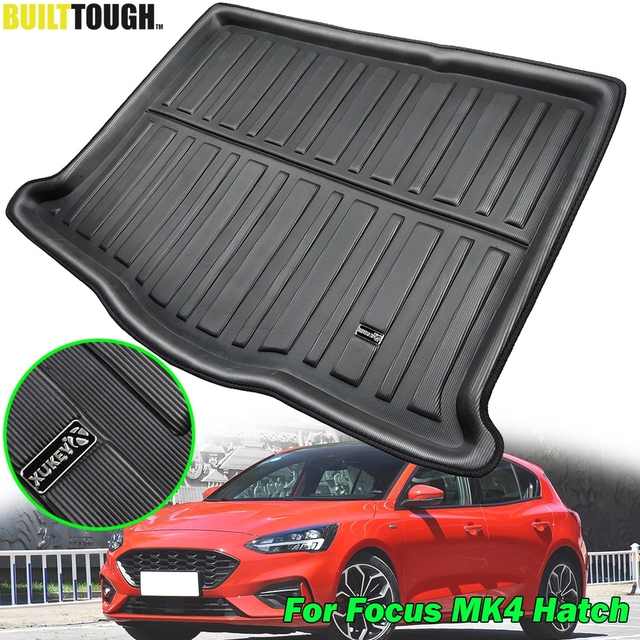 Car Boot Liner Cargo Tray For Ford Focus MK4 4 MKIV Hatch Hatchback 2019 2018 Boot Rear Trunk Floor Mat Carpet Accessories