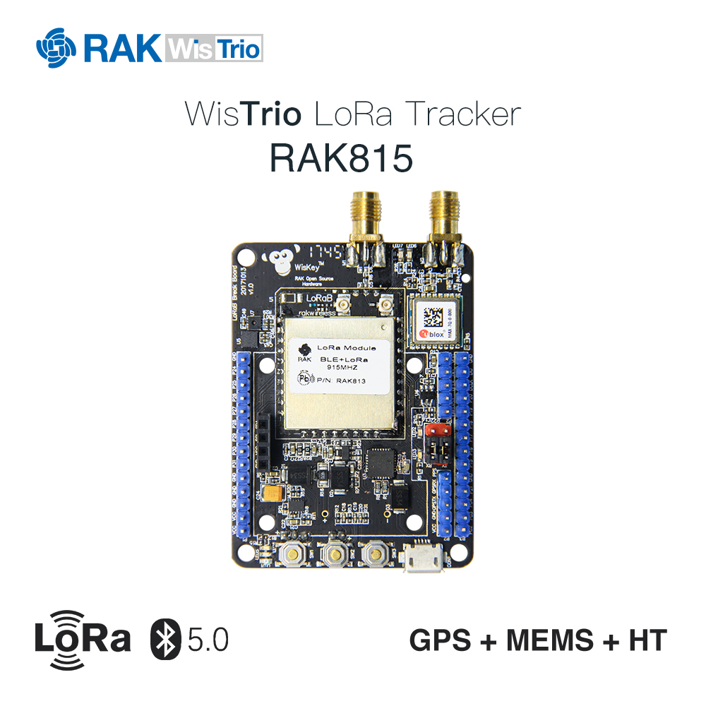 RAK815 Hybrid Location Tracker, LoRa+Bluetooth 5.0/Beacon+GPS+Sensors+LCD,LoRaWAN 1.0.2, RAK813 Breakboard, Region AS923 etc. screw extractor