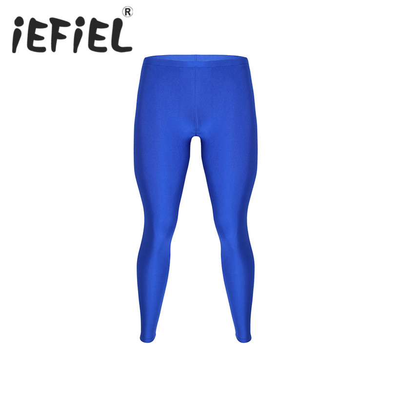 iEFiEL Men Elastic Quick Dry Compression Long Skinny Pencil Pants Trousers Workout Gyms Joggers Fitness Exercise Pant Sweatpants