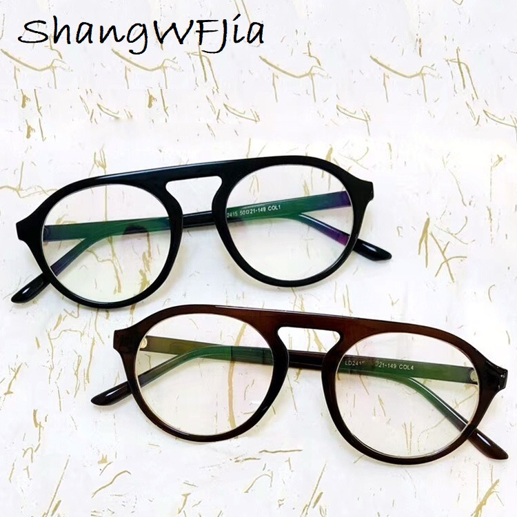 Flat Top Round  Men Glasses Frame Women Eyeglasses Frame Vintage Square Clear Lens Glasses Optical Spectacle Frame