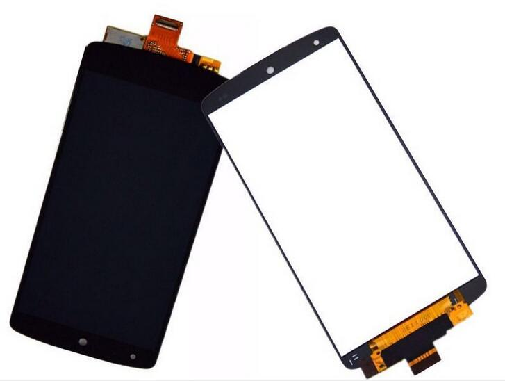 For LG Google Nexus 5 D820 D821 LCD Display Touch Screen Digitizer Assembly Black Free Shipping + Tracking No. black lcd screen display with touch digitizer frame assembly for lg google nexus 5 d820 d821 free tools and free shipping