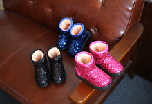 Children s snow boots sequins girls warm boots boys shoes 2016 winter non slip thickening baby