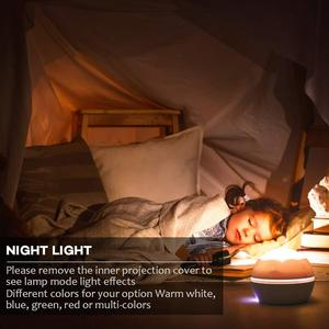 Image 4 - אוקיינוס מנורת שמי זרועי הכוכבים מסתובב מקרן לילה אור ילדי ילד תינוק שינה LED לייזר מקרן עבור שינה USB מנורת מקרן