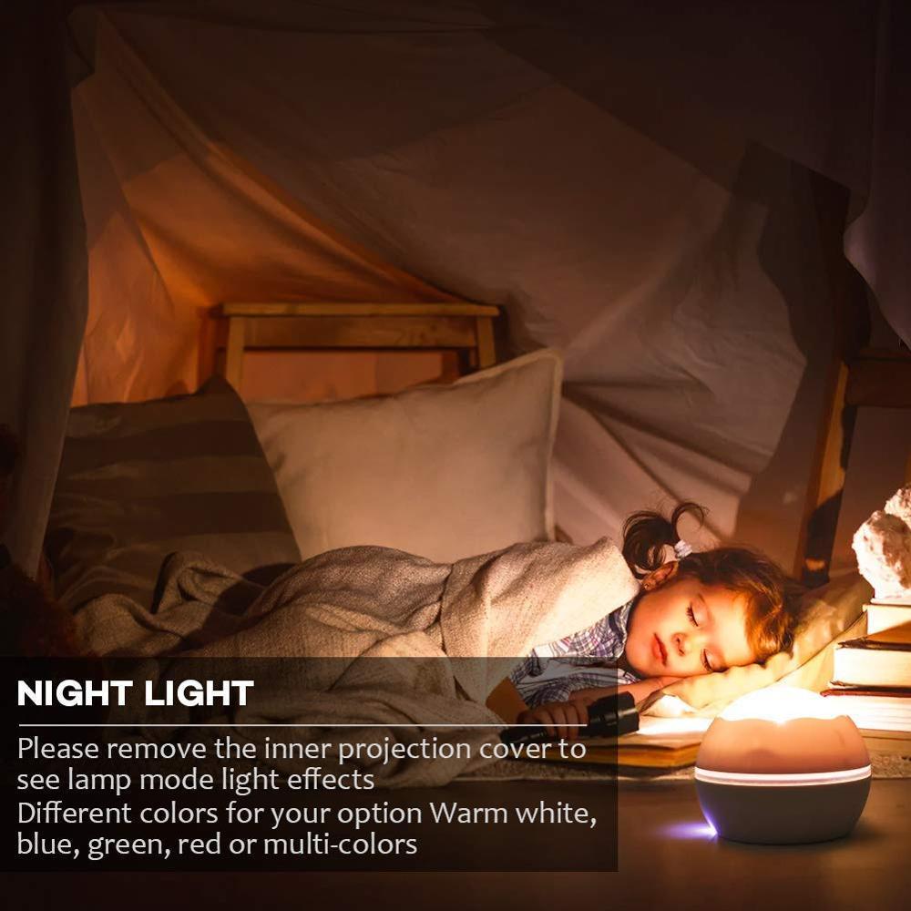 Image 4 - BOAZ Ocean Starry Sky Rotating Projector Night Light 8 Colors Mode LED Laser Night Lights Gift for Kids Children living/Bedroom-in LED Night Lights from Lights & Lighting