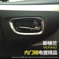 Styling de voiture Pour Nissan Murano Inter Poignée De Porte Bowl Cover Abs Chrome Poignée Bowl Galons Accessoires Autocollant De Voiture 2015 2016 4 pcs