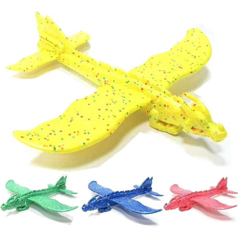 48cm Hand Launch Throwing Glider Dinosaur Train Dragon Plane Model Outdoor Educational Toys Aircraft Inertial Foam EPP Airplane
