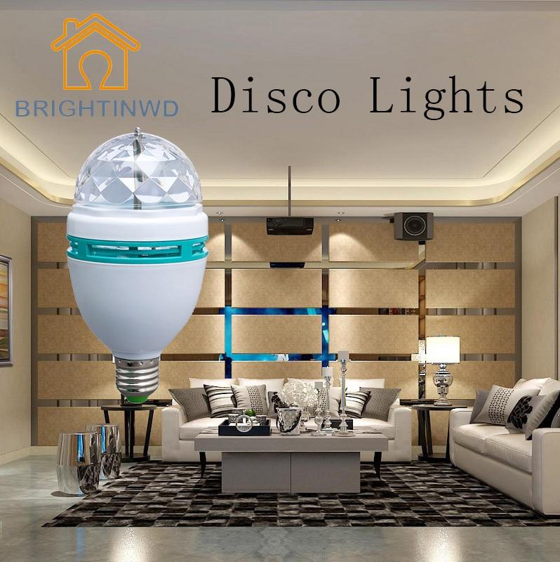 220V 3W RGB Disco Lampada LED E27 Roterande Disco Ball för DJ - Festlig belysning - Foto 2