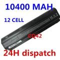 10400 mah 11.1 v 6 celdas de batería portátil de baterías del ordenador portátil para hp compaq cq42 cq32 mu06 mu09 g62 g72 g42 593553-001 dm4 593554-001