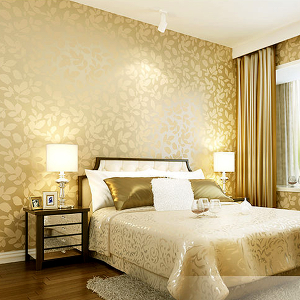 Simple Bedroom Wallpaper aliexpress : buy warm leaves 3d wallpaper design living room