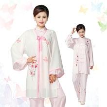 Customize Chinese Tai chi clothing kungfu uniform Martial arts clothes printed Qigong garment for women children kids boy girl