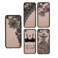 Luxury 2 in 1 Lace Henna Mandala Floral Flower Hard Case Coque Shell Cover for Apple iPhone 6 6S 7 8 Plus X XS cases covers