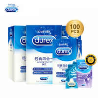Durex Preservativo 100/72/50/24 Pcs Caixa de Contracepção Natural Látex Lubrificado Suave intimate mercadorias 4 Tipos preservativos para Homens Brinquedos Do Sexo