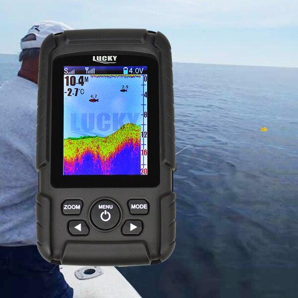 FF718Lic-W GLÜCK Farbe Bildschirm Fisch Finder Wireless Fisch Finder Akku 100m Reichweite Wasserdicht
