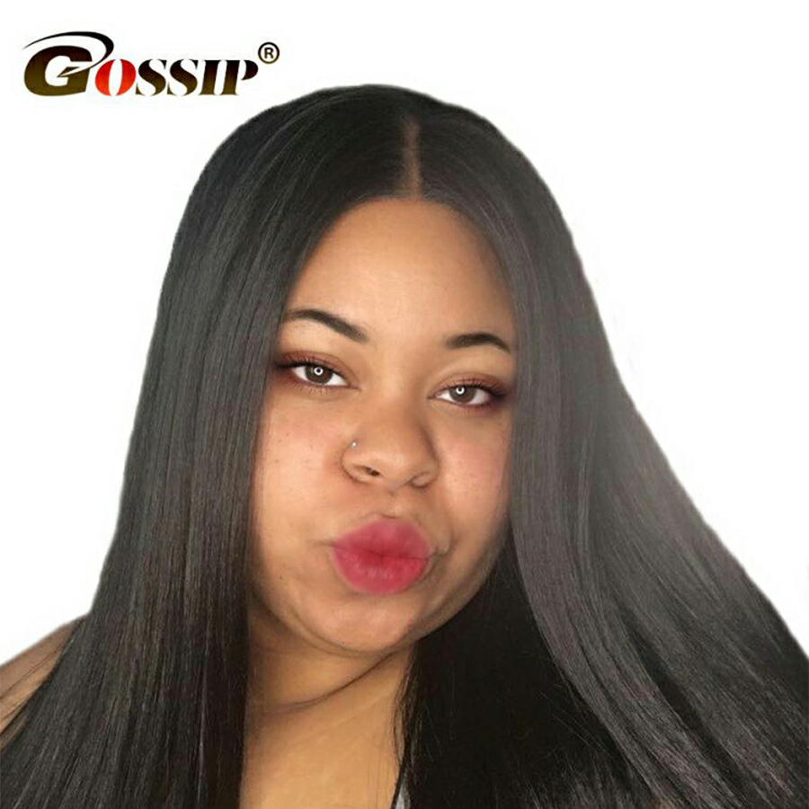 150 Full Lace Wig Human Hair Gossip Remy Hair Wigs Straight Human Hair Indian Wig Pre