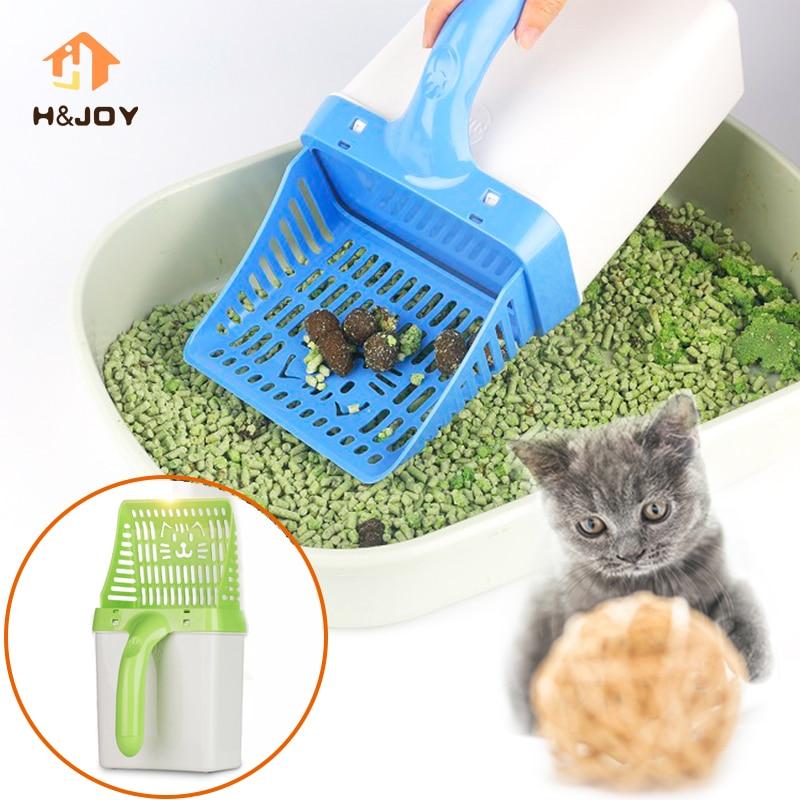 Nützliche Katzenstreu Schaufel Schnell Einfach Haustier Reinigung Werkzeug Scoop sichten Katze Sand Reinigung Produkte Schöpft Für Cat Toilet Training kit
