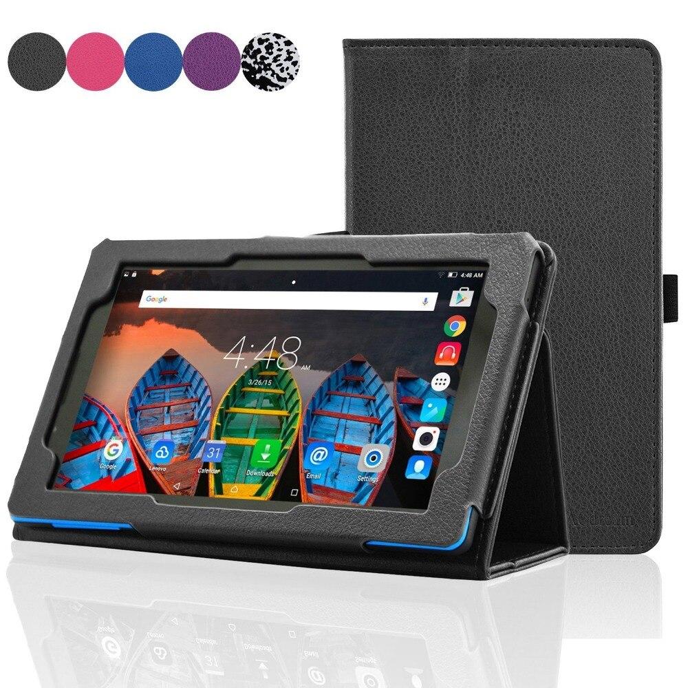 Litchi Grain Stand Cover PU Leather Case for Lenovo Tab 3 7.0 710F 701I Essentia
