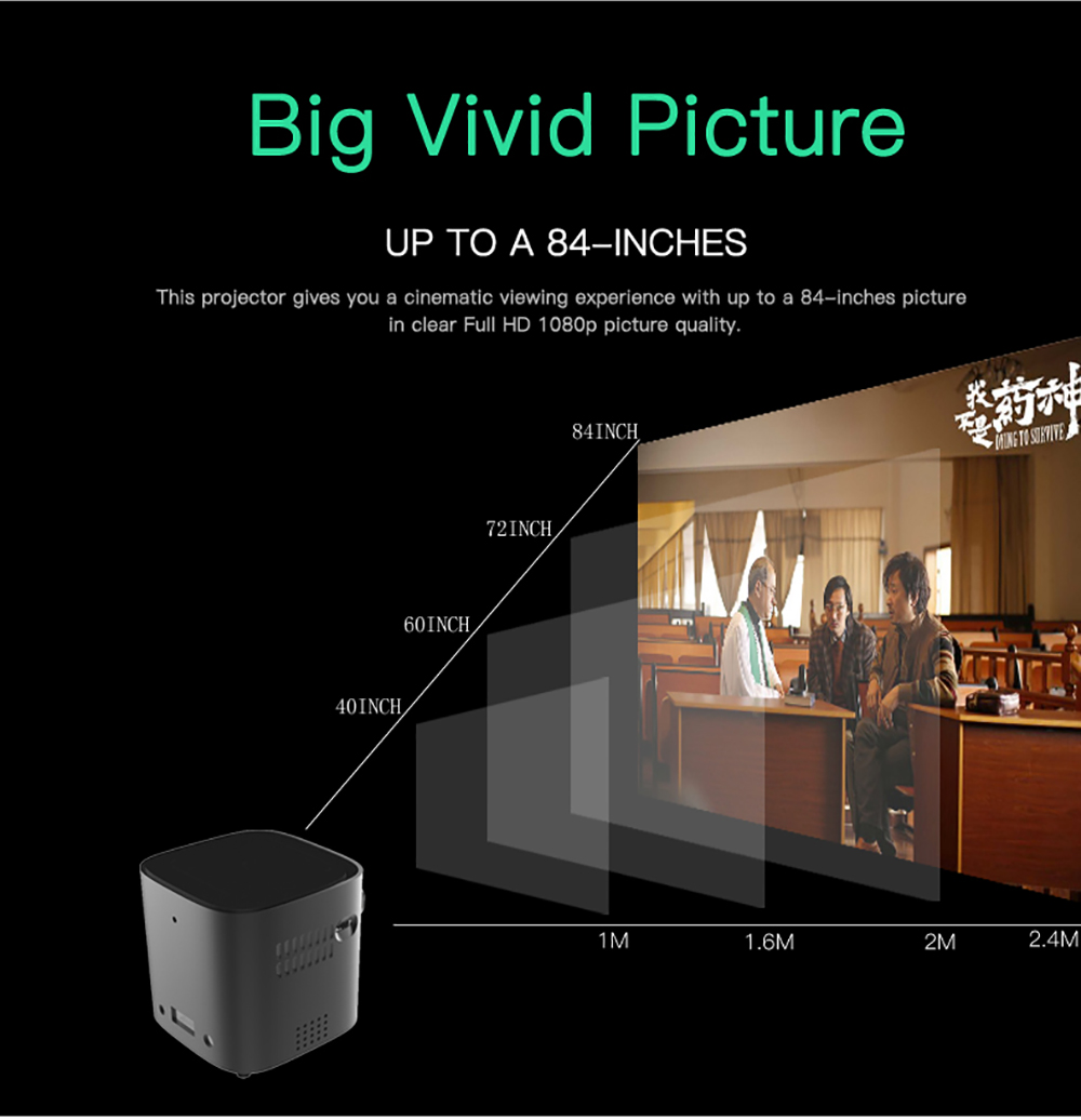 CRENOVA Newest DLP Wifi Bluetooth Mini Projector With Android 7.1.2OS  For Home Theater 13