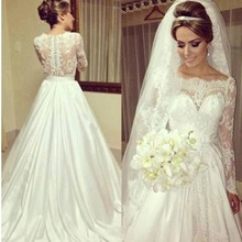 srui sker Long Sleeve Wedding Dresses Bride Dress