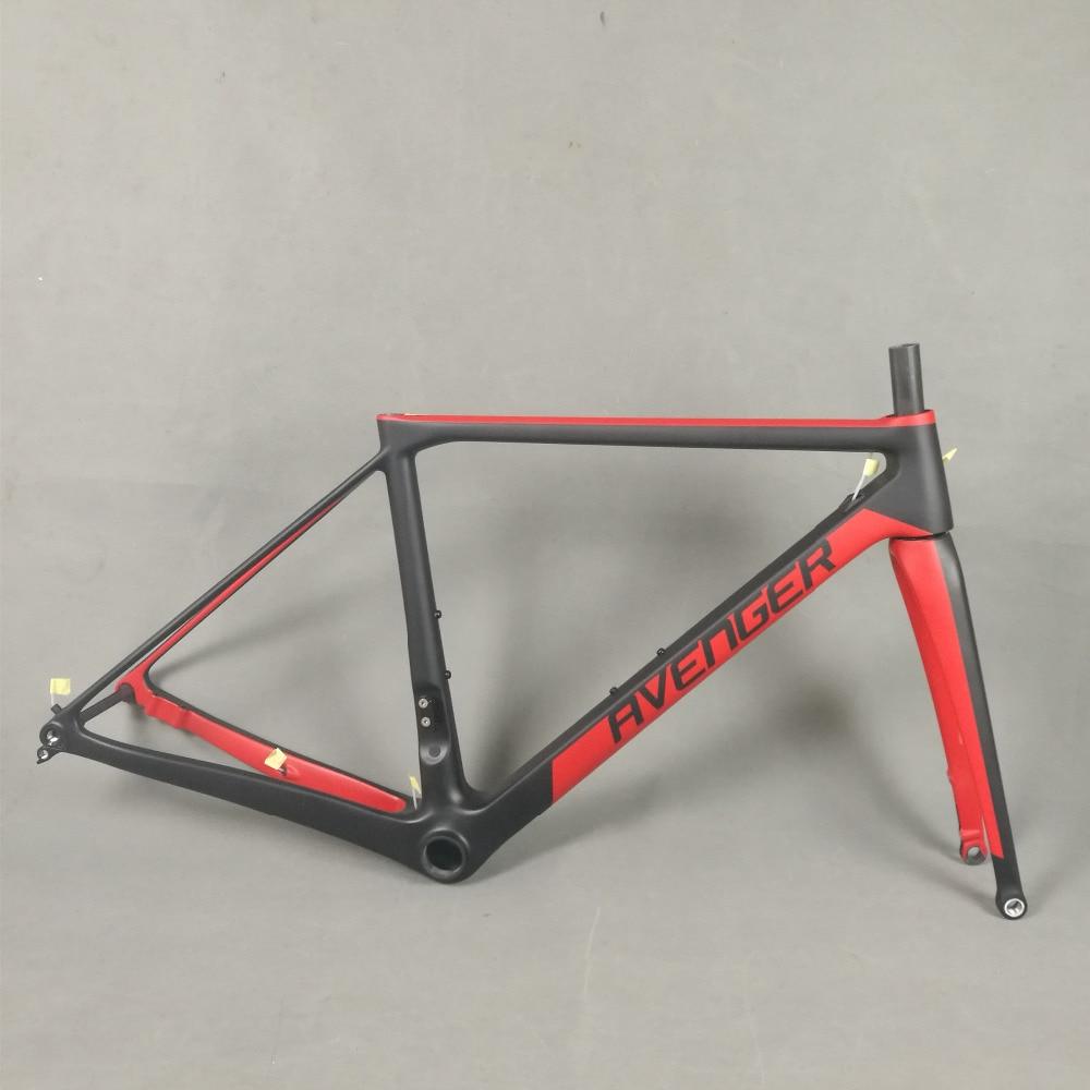 700c Carbon Fiber Flat Mount Disc Brake Road Bike Frame