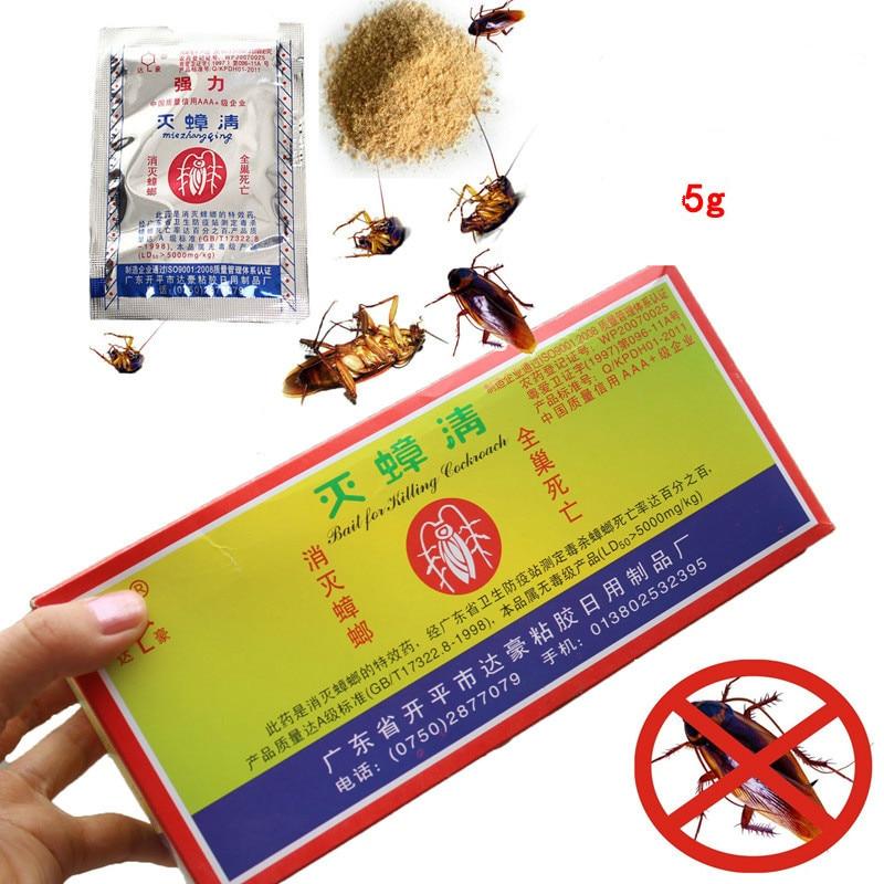 10PCS/pack Powerful Effective Cockroach Killing Bait Kak kerlak Bait Pest Control Cockroach Killer repellent Powder Pest contro